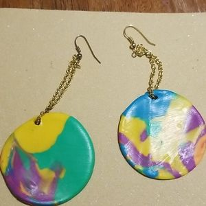 psy·che·del·ic Polymer clay Earrings